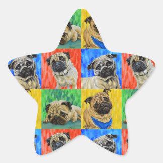 Teste padrão de repetição preliminar do Pug Adesito Estrela
