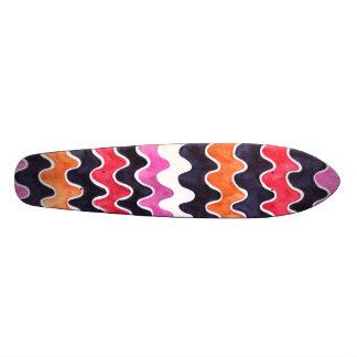 Teste padrão de teste cor-de-rosa vermelho - shape de skate 18,7cm