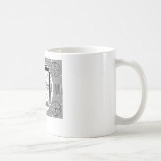 Teste padrão de teste da tevê caneca de café