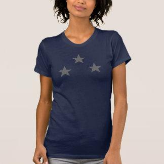 Teste padrão de três estrelas decorativo tshirt