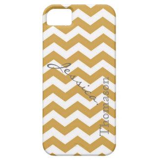 Teste padrão de ziguezague amarelo na moda da capa barely there para iPhone 5