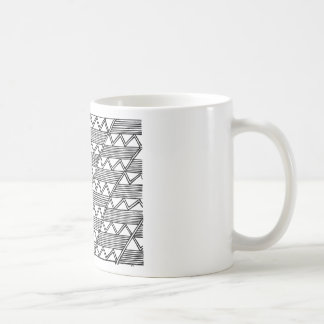 Teste padrão de ziguezague caneca de café
