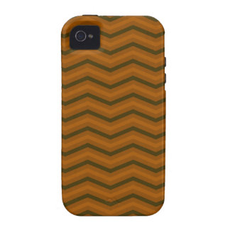 Teste padrão de ziguezague de Brown Capa Para iPhone 4/4S