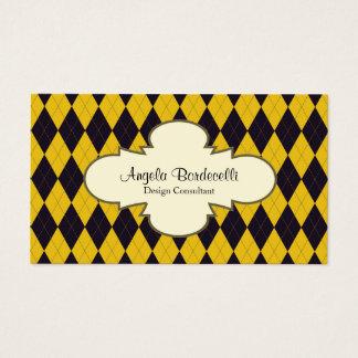 Teste padrão decorativo de Argyle do cartão de