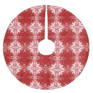 Teste padrão decorativo do abstrato do ornamento saia para árvore de natal de poliéster