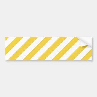 Teste padrão diagonal amarelo e branco das listras adesivo para carro
