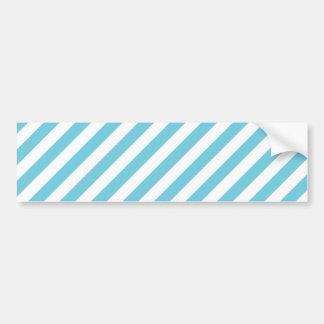 Teste padrão diagonal azul e branco das listras adesivo de para-choque