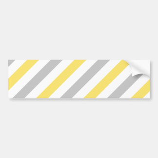 Teste padrão diagonal cinzento e amarelo das adesivo para carro