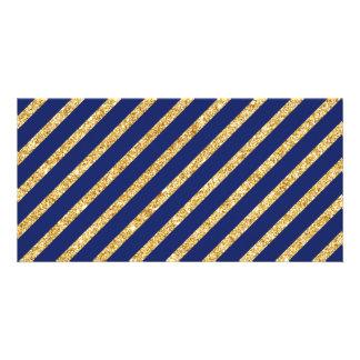 Teste padrão diagonal da listra do brilho dos cartão com foto