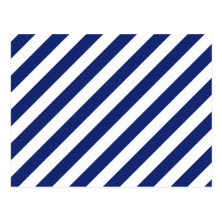 Teste padrão diagonal do azul marinho e o branco cartão postal