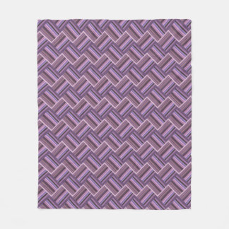 Teste padrão diagonal do weave das listras malva cobertor de lã