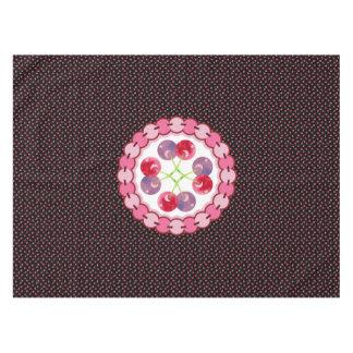 Teste padrão dispersado das cerejas da aguarela toalha de mesa