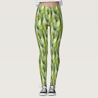 Teste padrão do abstrato da natureza do fluff do leggings