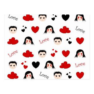 Teste padrão do amor - cartão
