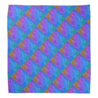 Teste padrão do arco-íris da tartaruga bandana