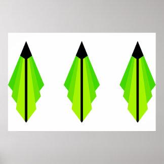 Teste padrão do art deco nos limões pôster
