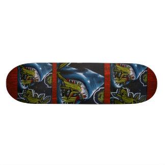 Teste padrão do ataque do tubarão - skate legal do