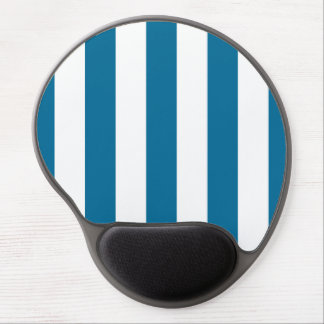 Teste padrão do azul de pavão e o branco do XL das Mouse Pad De Gel