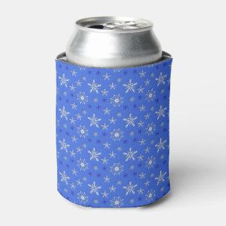 teste padrão do azul do feriado do Natal Porta-lata