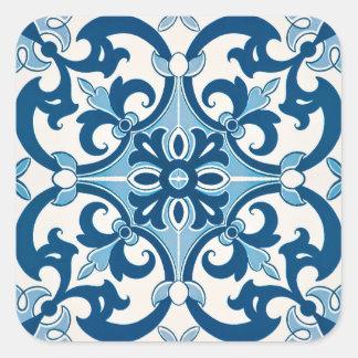 Teste padrão do azulejo do estilo da flor de lis adesivo quadrado