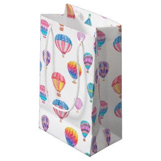 Teste padrão do balão de ar quente sacola para presentes pequena