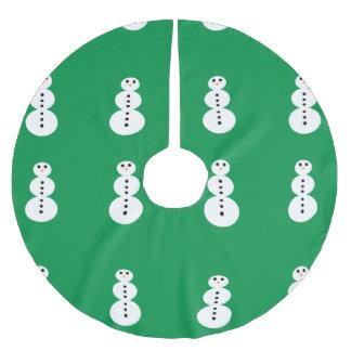 Teste padrão do boneco de neve cobertura para árvore de natal de poliéster