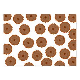 Teste padrão do cupcake do chocolate cartão de visita grande
