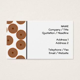 Teste padrão do cupcake do chocolate cartão de visitas