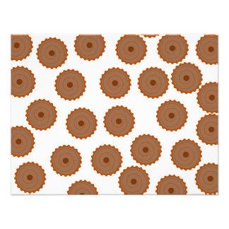 Teste padrão do cupcake do chocolate convites