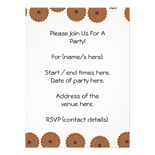 Teste padrão do cupcake do chocolate convite personalizado