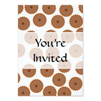 Teste padrão do cupcake do chocolate convite 12.7 x 17.78cm