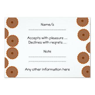 Teste padrão do cupcake do chocolate convite 8.89 x 12.7cm