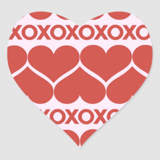 Teste padrão do dia dos namorados adesivo coração