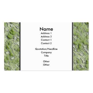Teste padrão do efeito das algas verdes cartão de visita