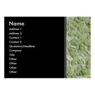 Teste padrão do efeito das algas verdes cartão de visita grande