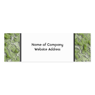 Teste padrão do efeito das algas verdes cartão de visita skinny