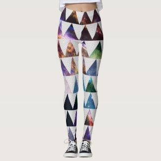 Teste padrão do espaço leggings