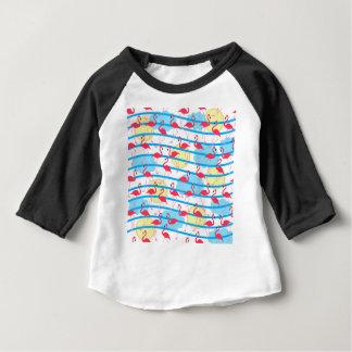 Teste padrão do flamingo camiseta para bebê