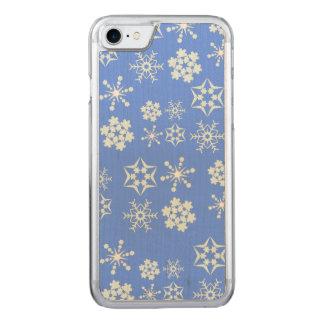 Teste padrão do floco de neve capa iPhone 7 carved