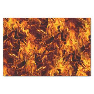 Teste padrão do fogo e da chama papel de seda