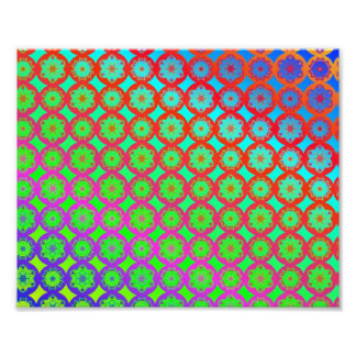 Teste padrão do Fractal da mandala do arco-íris Foto Arte