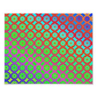 Teste padrão do Fractal da mandala do arco-íris Impressão De Foto