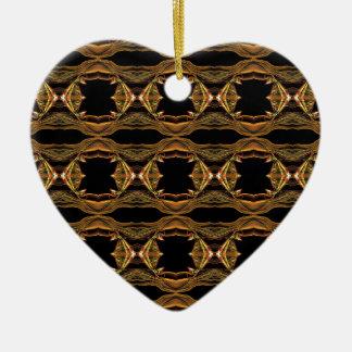 Teste padrão do fumo Ab (1) Ornamento De Cerâmica Coração