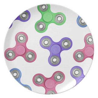 Teste padrão do girador da inquietação prato de festa