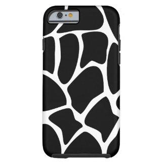 Teste padrão do girafa. Design animal, preto Capa Tough Para iPhone 6