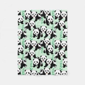Teste padrão do gráfico dos ursos de panda cobertor de velo