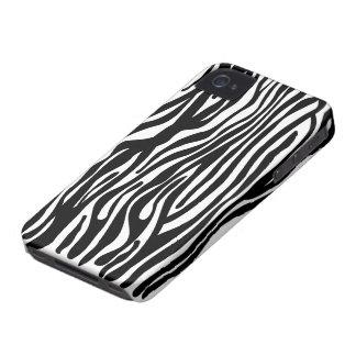 Teste padrão do impressão da zebra - preto e capa para iPhone