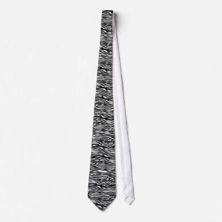 Teste padrão do impressão da zebra - preto e gravata
