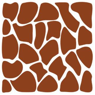 Teste padrão do impressão do girafa de Brown Escultura Fotos