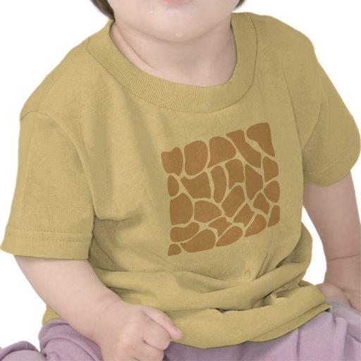 Teste padrão do impressão do girafa no bege tshirt